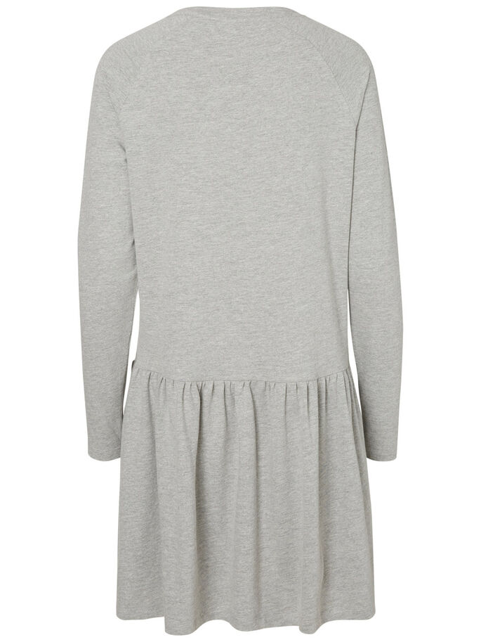 COURTE JERSEY ROBE, Light Grey Melange, large