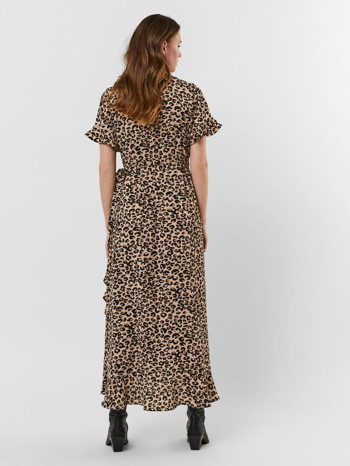 PRINTED MAXI DRESS, Toasted Almond, large