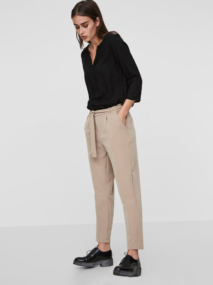 ANKLE TROUSERS, Silver Mink, large