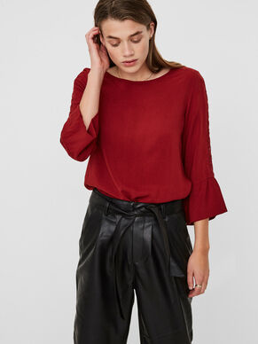 FEMININE 3/4 SLEEVED BLOUSE