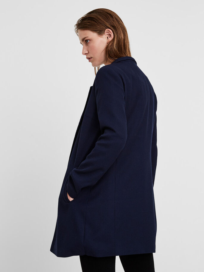 LONG BLAZER, Navy Blazer, large