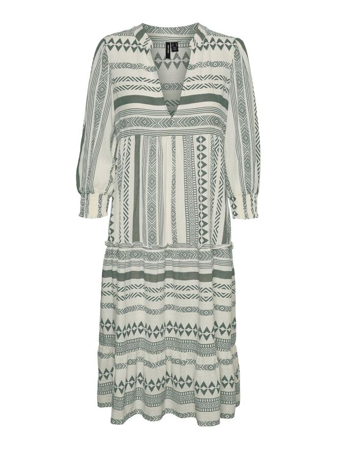 PRINTED MAXI DRESS, Birch, large