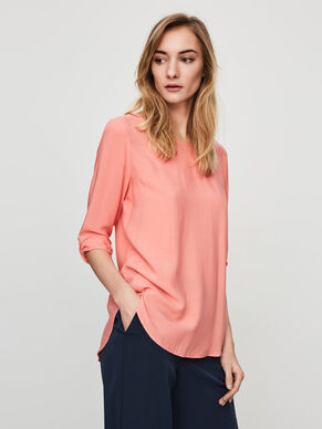 HIGH-LOW BLOUSE MANCHES 3/4