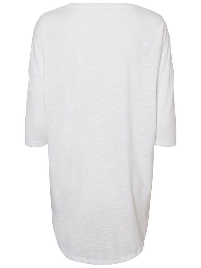 CASUAL 3/4 SLEEVED BLOUSE, Bright White, large