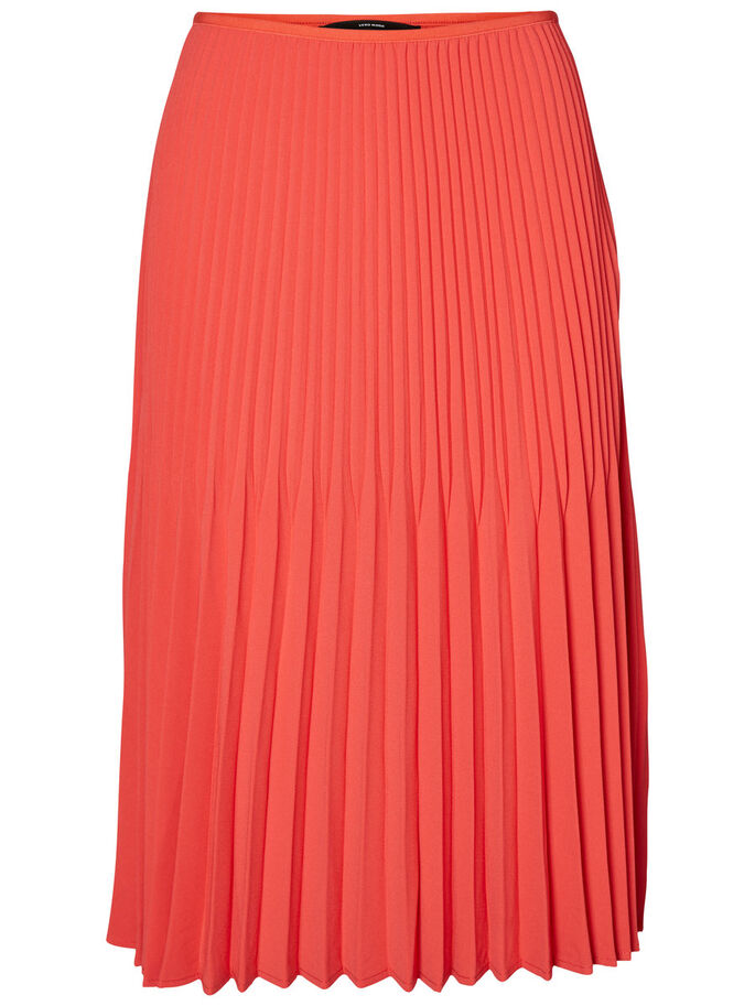 PLEATS SKIRT, Hibiscus, large