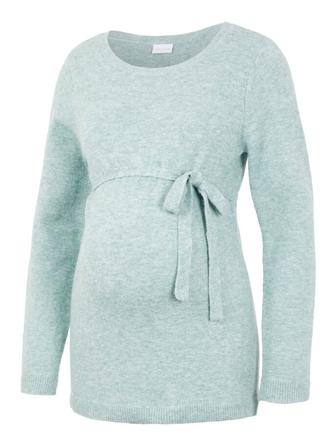 KNITTED OVERSIZED MATERNITY PULLOVER, Sagebrush Green, large