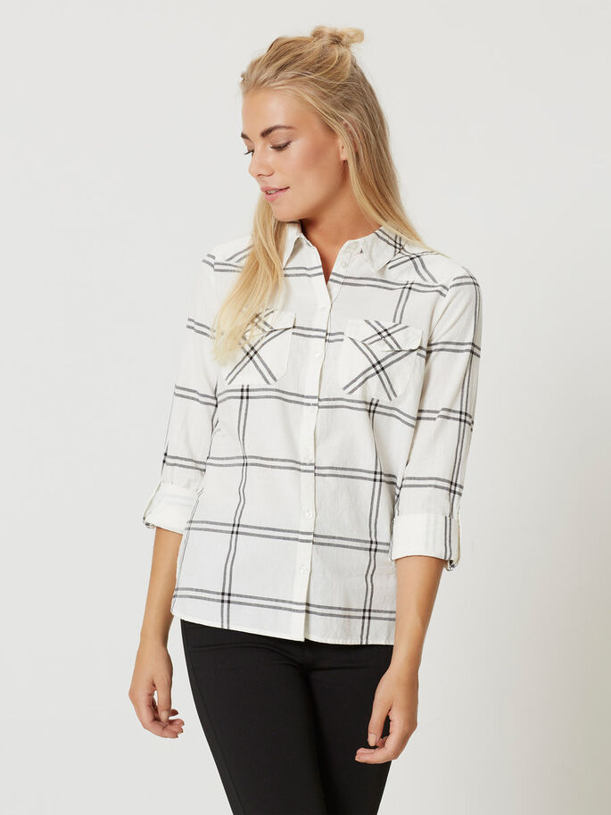 CASUAL LONG SLEEVED SHIRT, Bright White, large