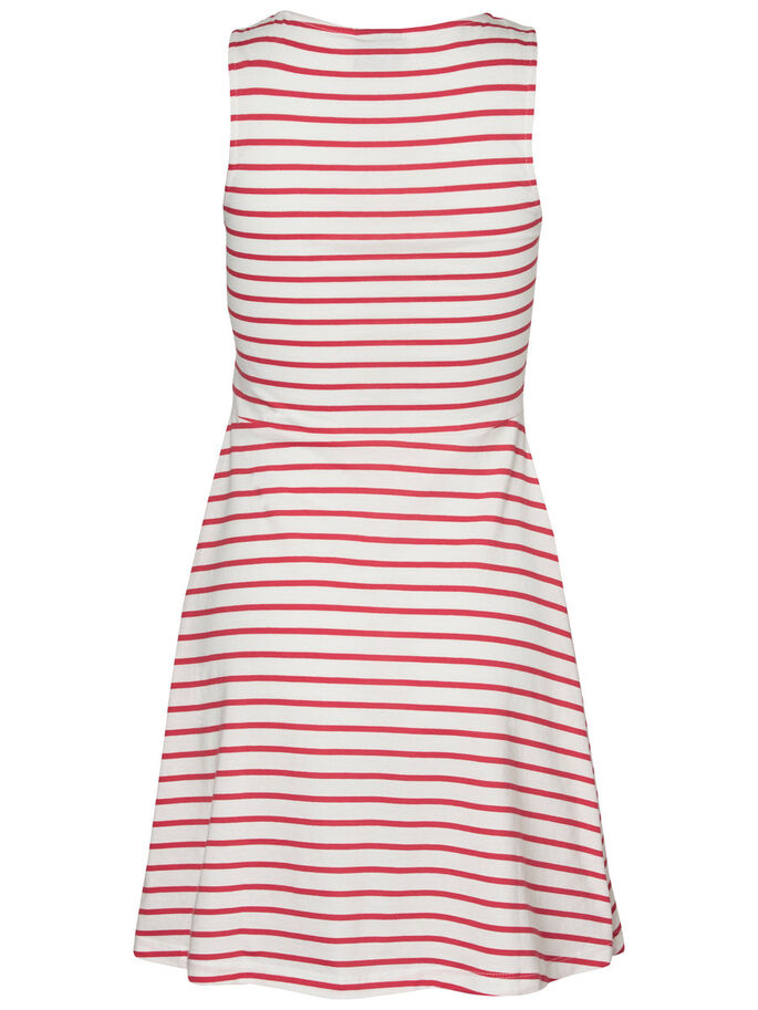 STRIPED SLEEVELESS DRESS, Snow White, large