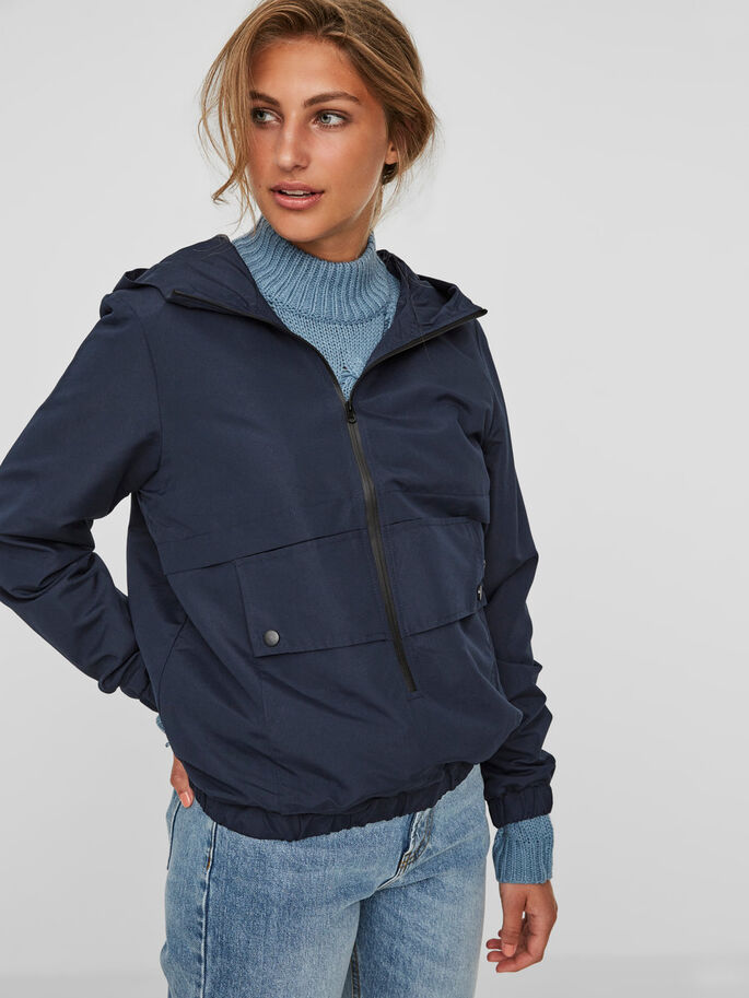 CASUAL ANORAK, Navy Blazer, large