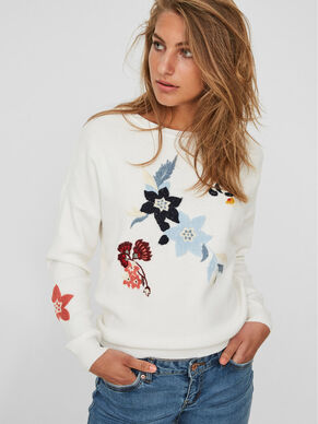FLOWER KNITTED PULLOVER