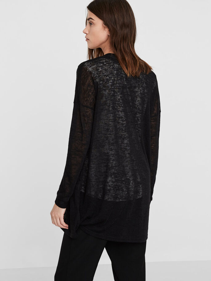 LANGER STRICK-CARDIGAN, Black Beauty, large