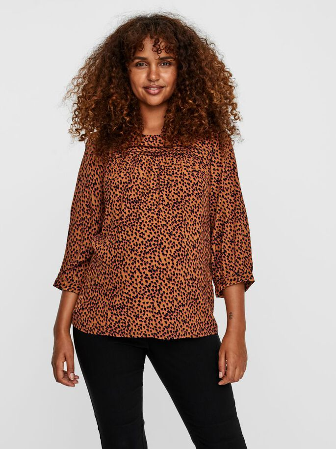 VMMTANIA MATERNITY BLOUSE, Tobacco Brown, large