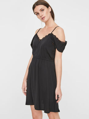 OFF-SHOULDER- KLEID OHNE ÄRMEL