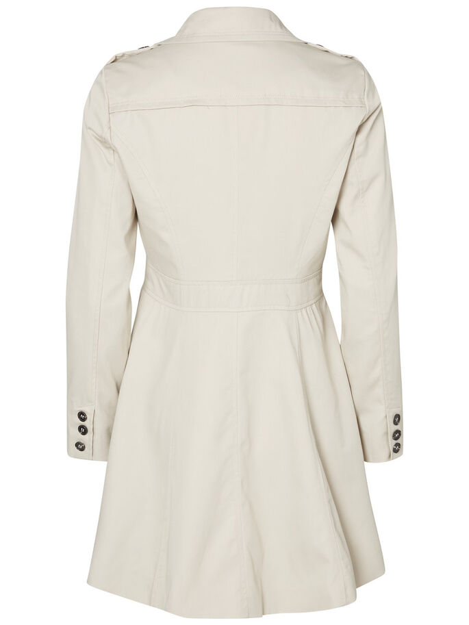 FEMININE TRENCHCOAT, Oatmeal, large