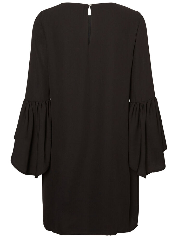 3/4-ÄRMEL- KLEID, Black, large