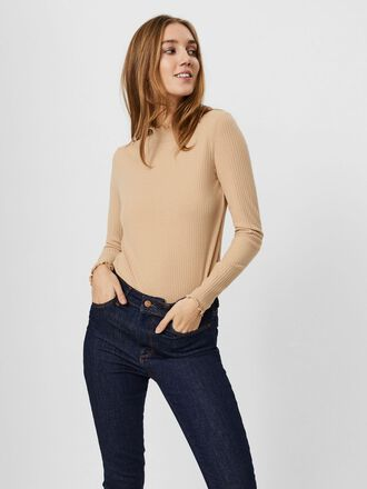 RIBBED LONG SLEEVED BLOUSE