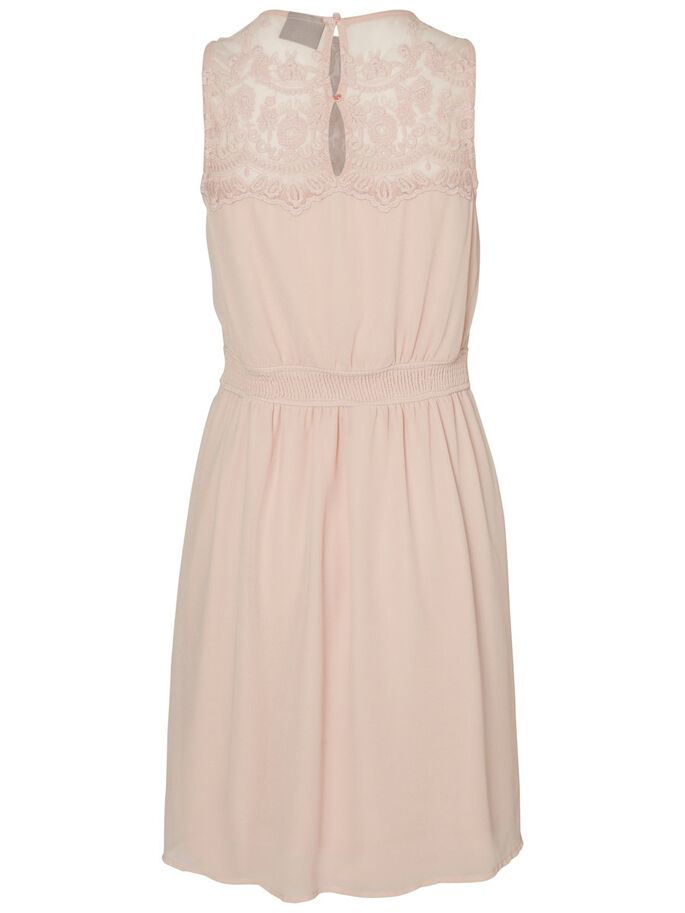 LACE SLEEVELESS DRESS, Peach Whip, large