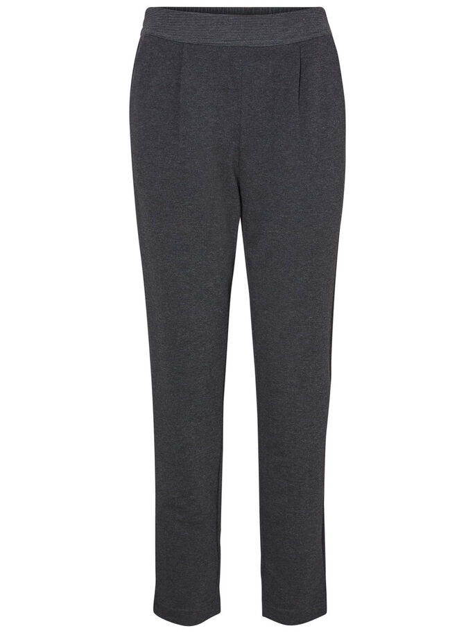 LOOSE FIT TROUSERS, Dark Grey Melange, large