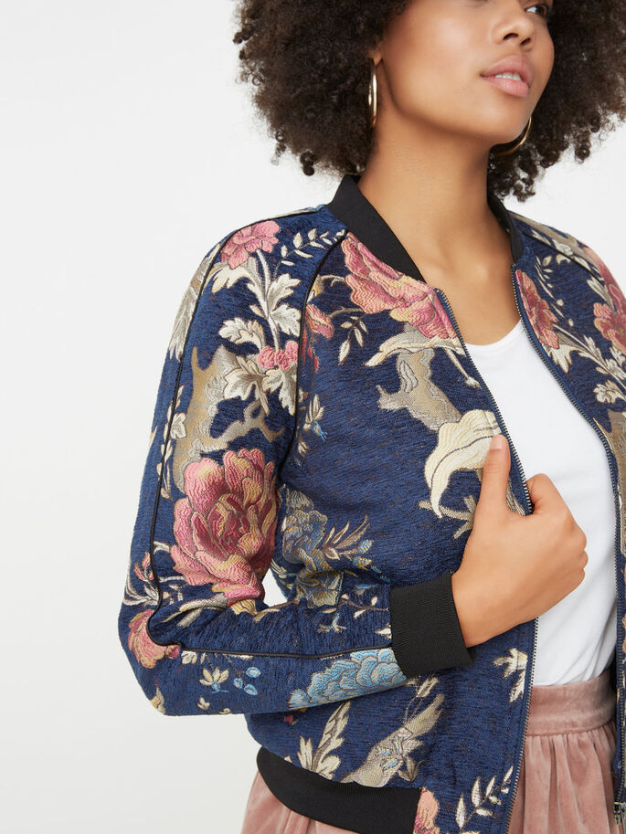 BOMBER JAS, Black Iris, large
