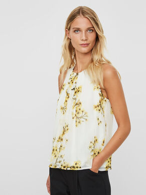 FLOWER SLEEVELESS TOP