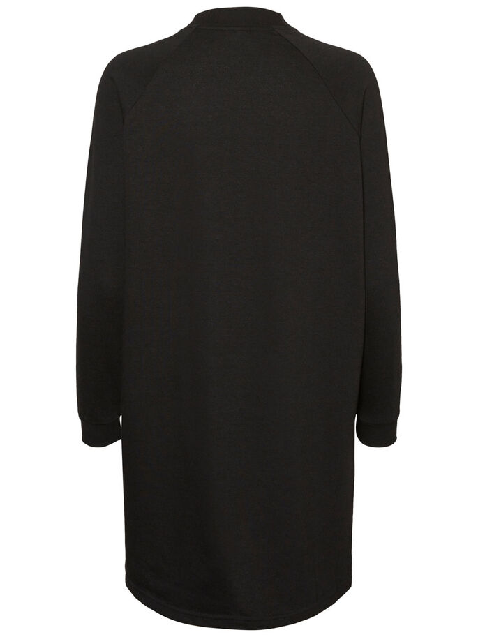 CASUAL LONG SWEATSHIRT, Black, large