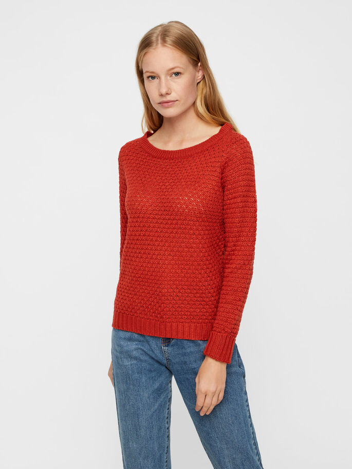 2a70da38d49b5 Patterned knitted pullover