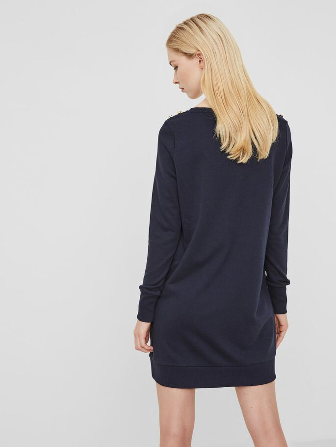 CASUAL LONG SLEEVED DRESS, Navy Blazer, large