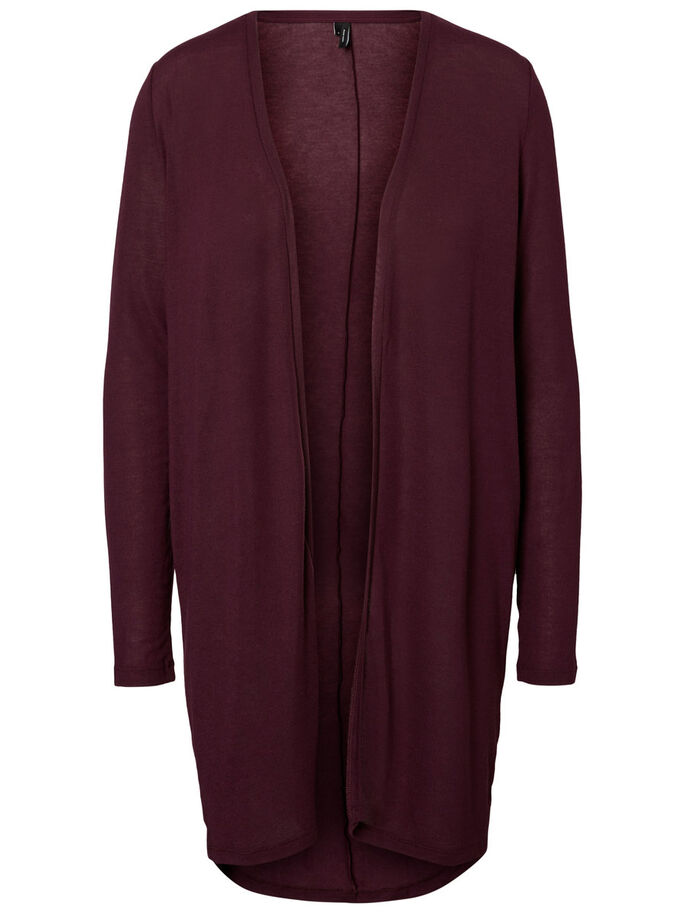 LONG CARDIGAN, Potent Purple, large