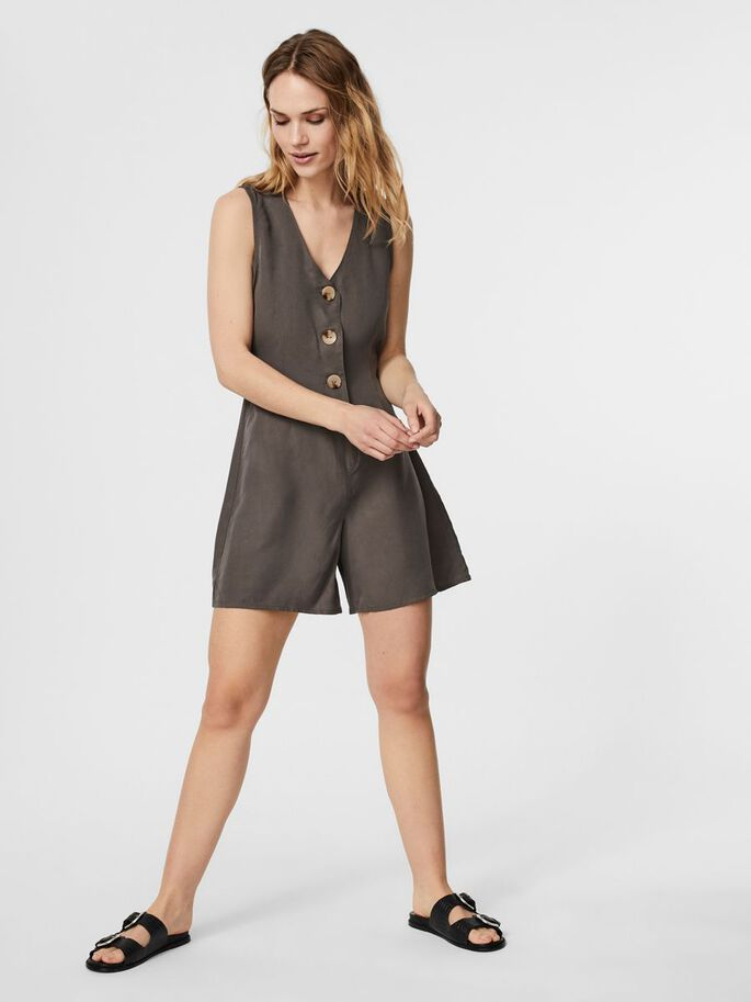 SLEEVELESS PLAYSUIT, Beluga, large