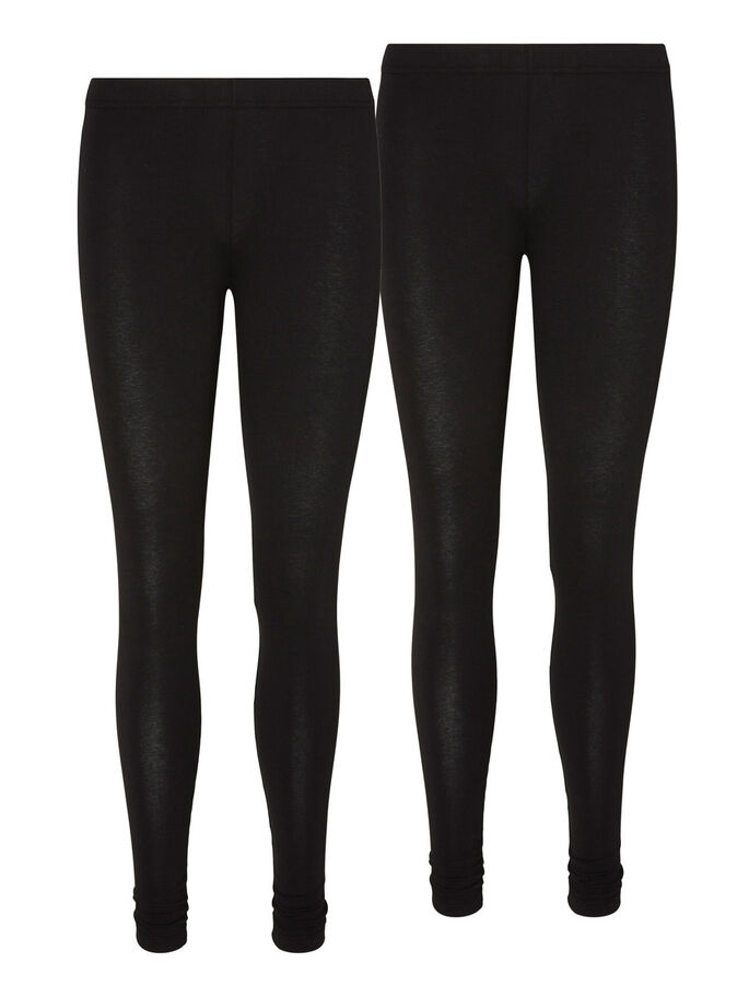 2-PACK LONG LEGGED LEGGINGS, Black, large