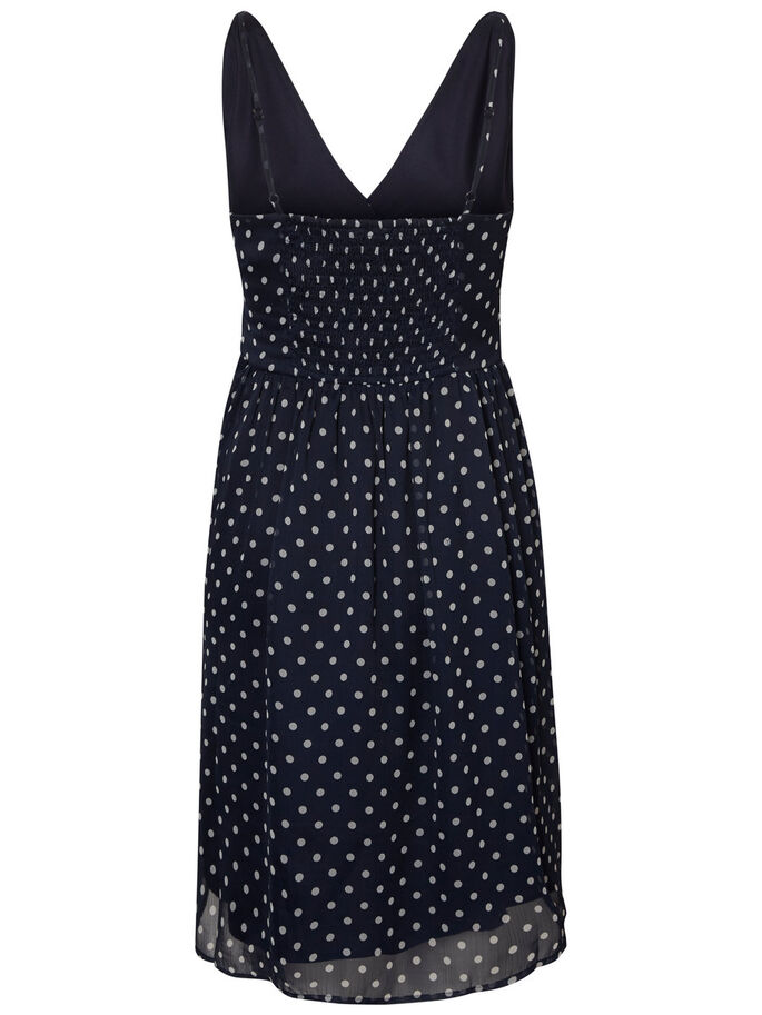 FEMININE SLEEVELESS DRESS, Black Iris, large