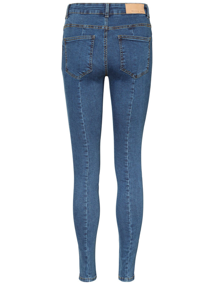 NW LUCY SKINNY JEANS, Medium Blue Denim, large