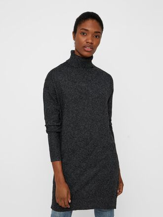 ROLLNECK KNITTED DRESS