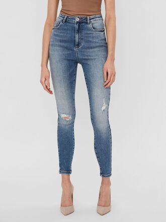 VMLOA HIGH WAISTED SKINNY FIT JEANS