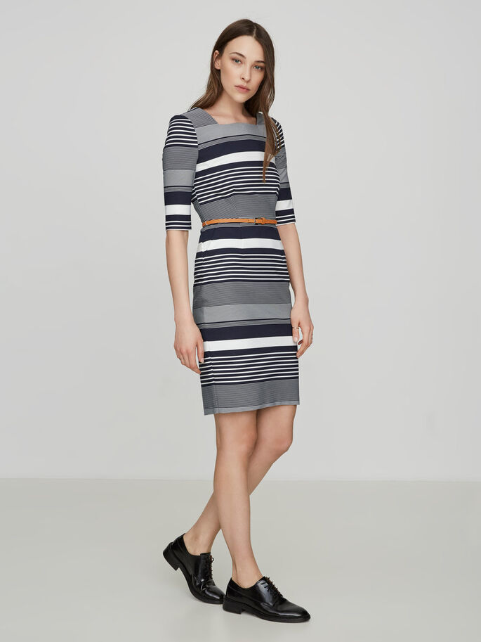 2/4 SLEEVED DRESS, Total Eclipse, large
