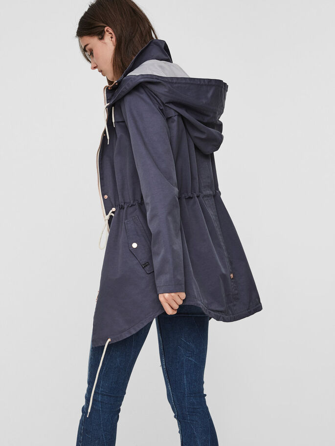 TRANSITIONAL PARKA COAT, Ombre Blue, large