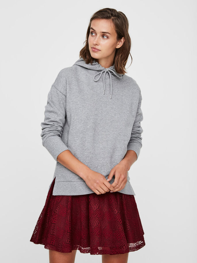 AWARE SWEATSHIRT, Light Grey Melange, large