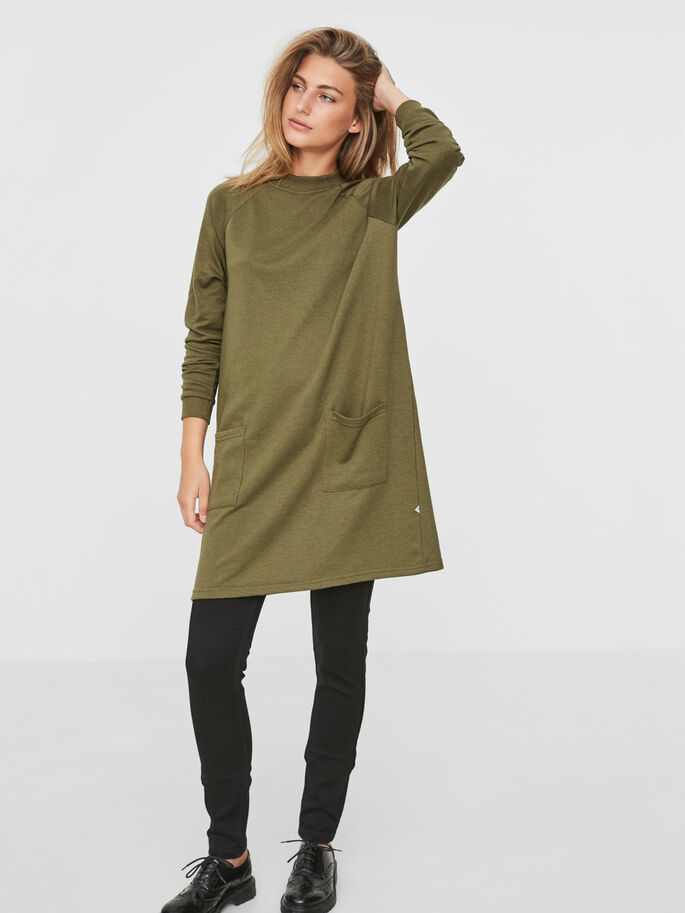 CASUAL LONG SWEATSHIRT, Ivy Green, large