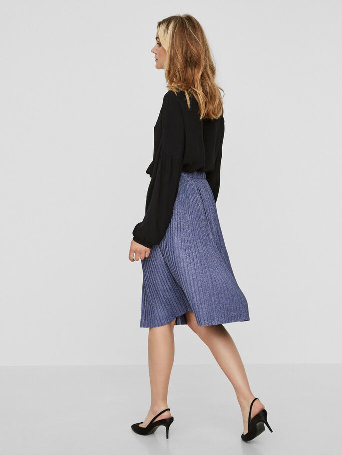 PLEATED SKIRT, Navy Blazer, large