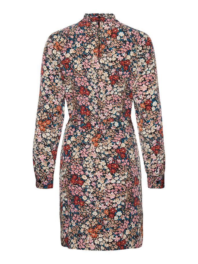 COL MONTANT MINI-ROBE, Wild Rose, large