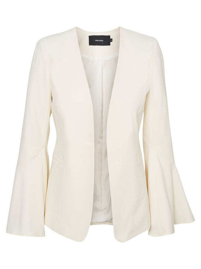 BELL SLEEVED BLAZER, Eggnog, large