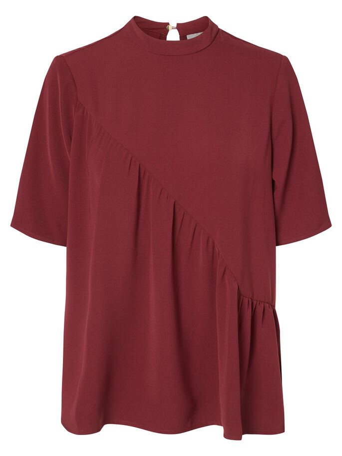FEMININE SHORT SLEEVED TOP, Zinfandel, large