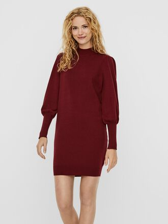 HIGH NECK KNITTED DRESS
