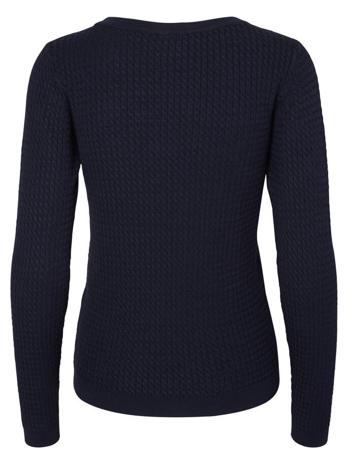 CASUAL TOP MED LANGE ÆRMER, Navy Blazer, large