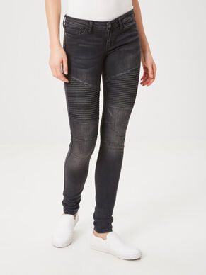 EVE TAILLE BASSE MOTARD JEAN SKINNY