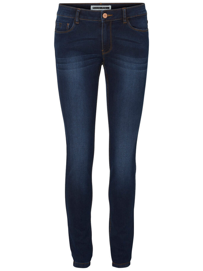 NW LUCY JEAN SKINNY, Dark Blue Denim, large