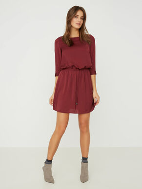 3/4 SLEEVED SHORT DRESS