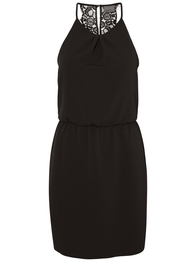 BLONDET KORT KJOLE, Black, large