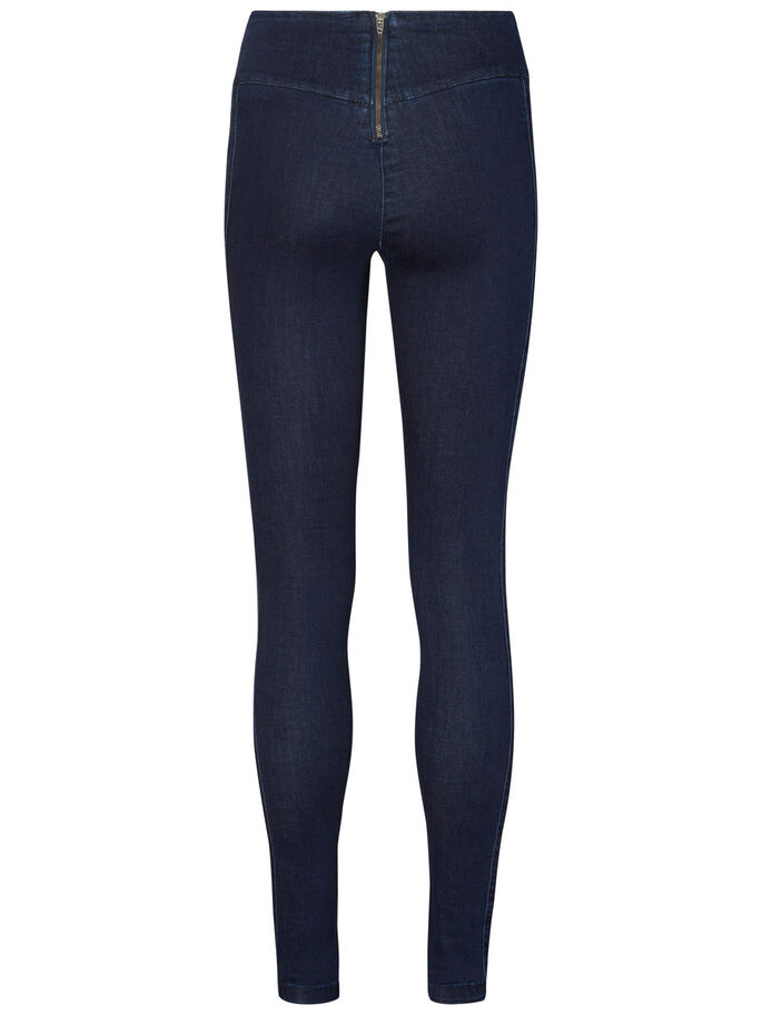 HW SKINNY FIT TROUSERS, Dark Blue Denim, large