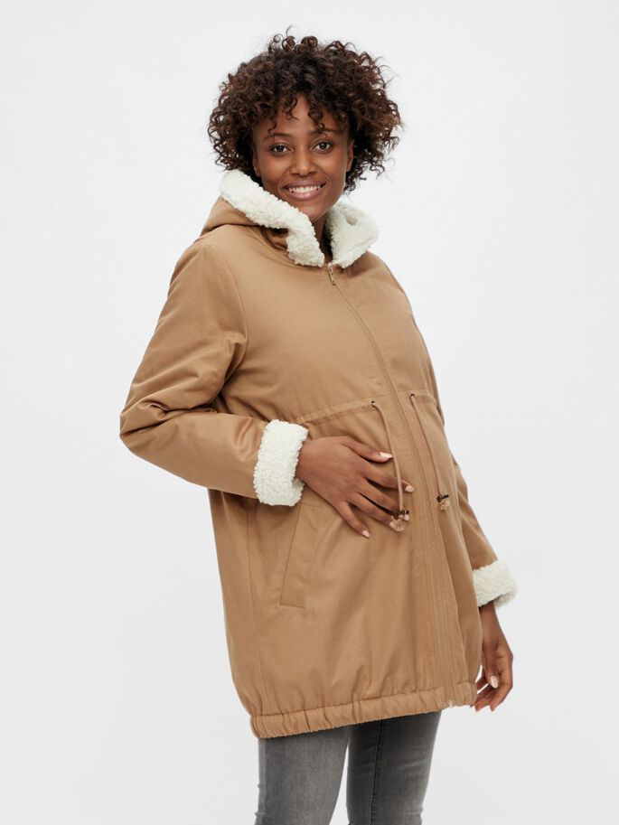 MLLINSE 3-IN-1 MATERNITY JACKET, Tigers Eye, large